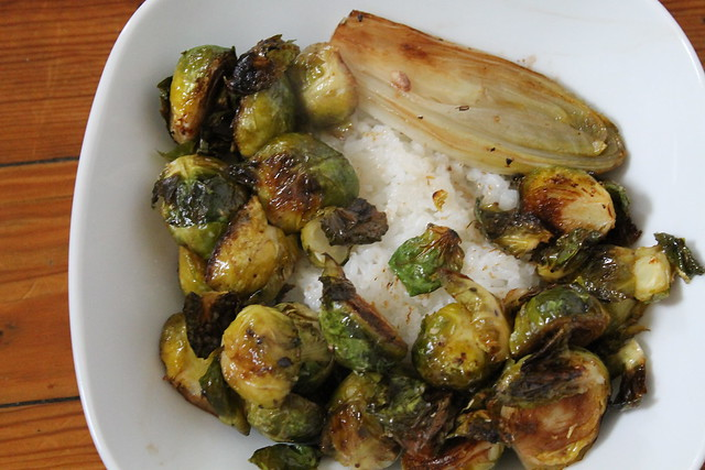 Caramelized Brussels sprouts and endive recipe