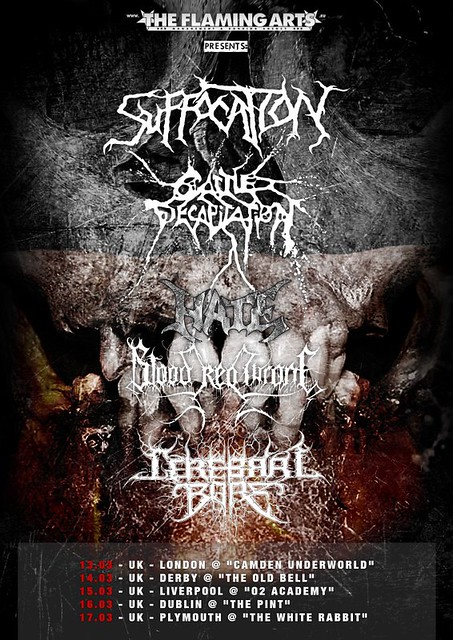 Suffocation 2012 UK Tour