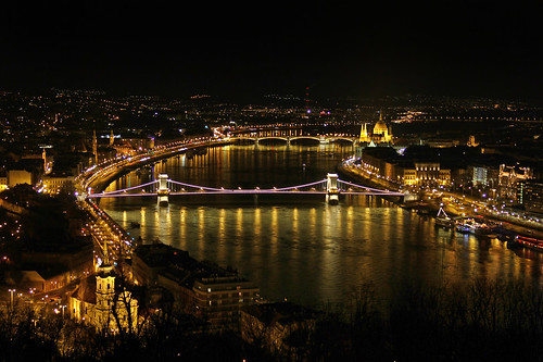 View from the Citadell - Budapest at night 2