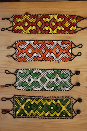 Shipibo Bead Work A by Howard G Charing