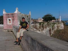 Yo en la Fortaleza de la Cabaña. La Habana, Cuba