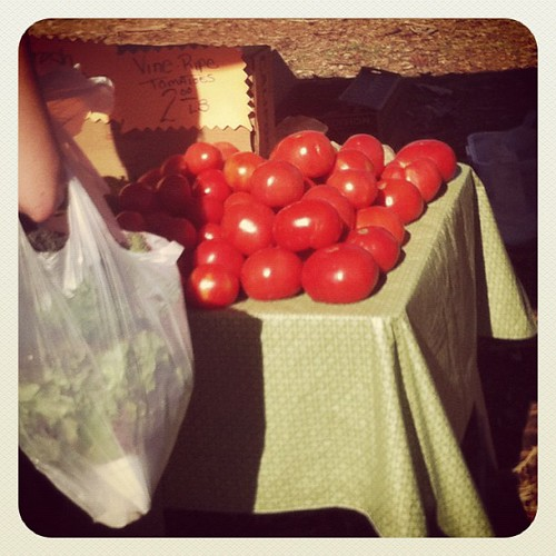 Farmers market = biggest tomatoes for SO cheap