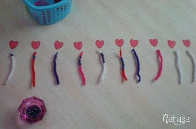 Montessori-Inspired Valentine's Day Math Activity (Photo from Leptir)