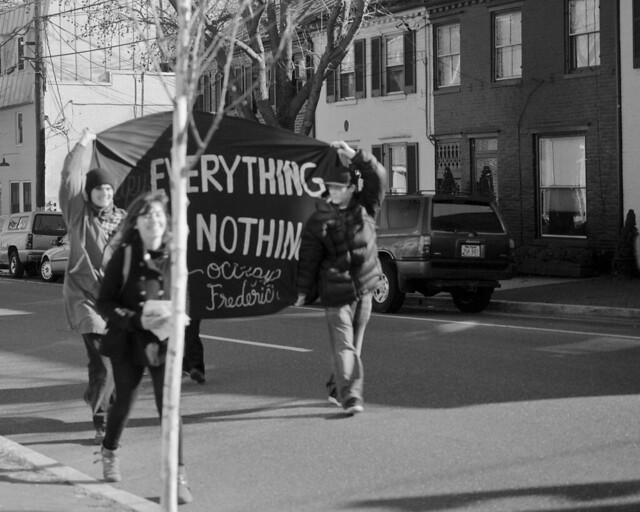 Activists take to the streets of Frederick.
