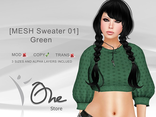 https://marketplace.secondlife.com/p/One-Store-MESH-Sweater-01-Green/3146664