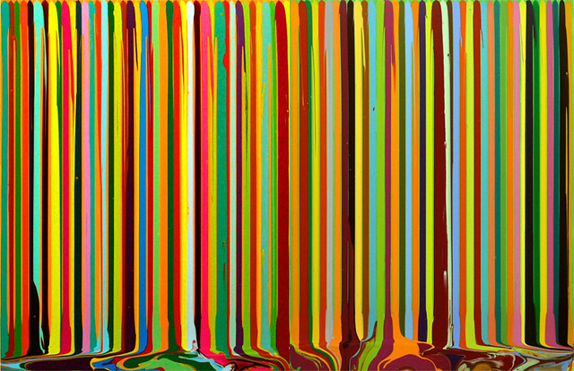 Ian Davenport 'Puddle Painting (Yellow Lime Green Study)'