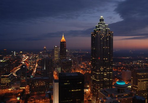 Dawn over Downtown Atlanta by Get The Flick