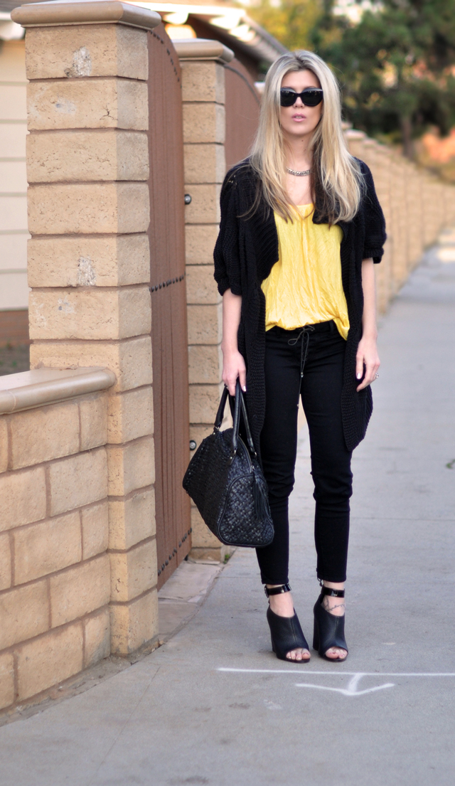 black and yellow outfit -pf