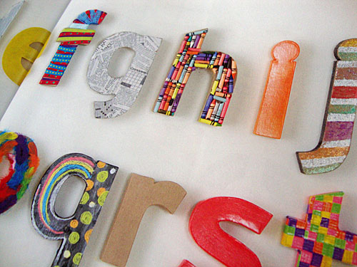 Decorated Kraft Letters