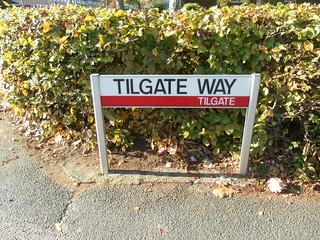 Classic Crawley Street Sign – Tilgate Way, Tilgate