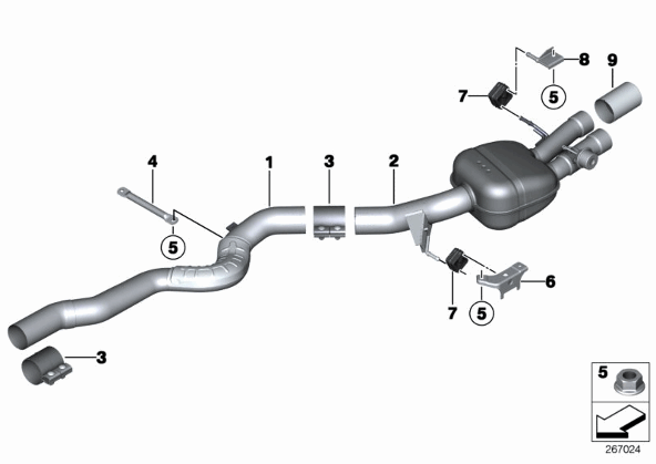f10 m5 exhaust system database