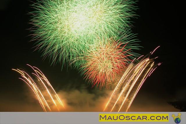 Fogos de artificio no Longwood Gardens