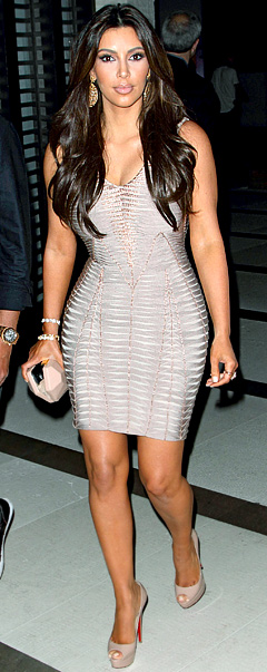 Kim Kardashian nude pink dress (3)