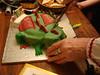 Dad chops the dragon's head off