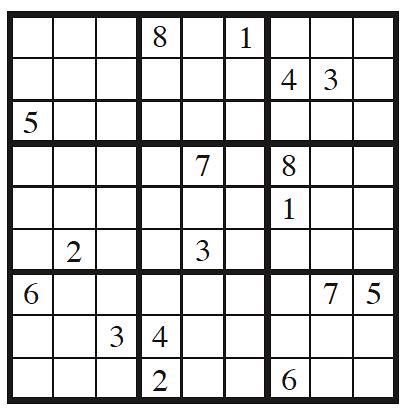 picture relating to Sudoku Printable Grid named 17 and sudoku clues  GrrlScientist Science