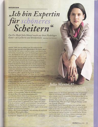 Emotion Artikel Julia