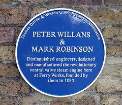 Photo of Peter Willans and Mark Robinson blue plaque