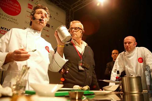 Pepe Solla + Jean Marie Baudic. Fórum gastronómico Santiago 2010