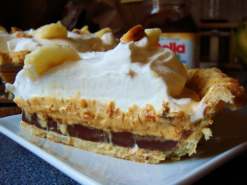 Nutella Banoffee Cream Pie: Sliced