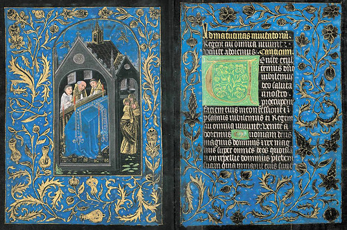 012- Canto del Oficio de Difuntos-Oficio de Difuntos-Maitines - The Black Hours-Ms M.493- fols. 98V-99R -© The Morgan Library & Museum