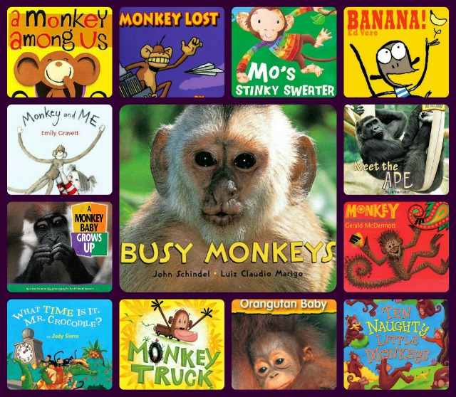 storytime starter--monkeys collage