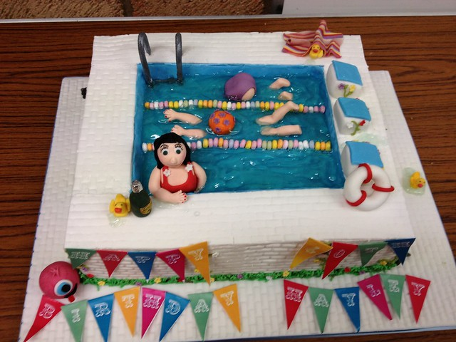 Cake Decorating Course Poole : swimming pool cake Flickr - Photo Sharing!