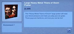 Large Heavy Metal Titans of Doom Poster