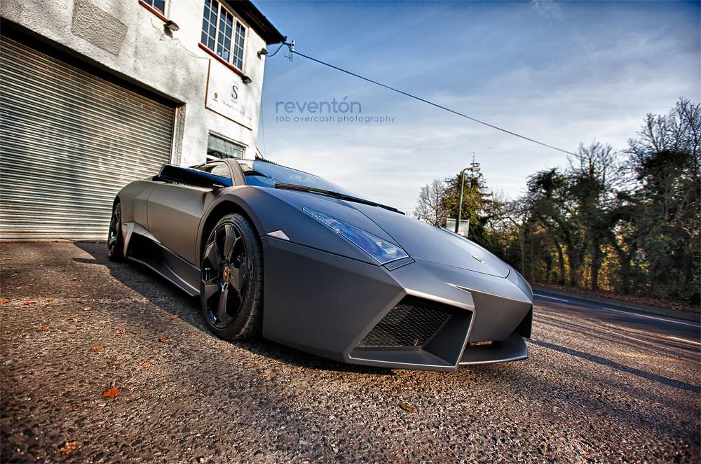 Reventon One Rare Bull Hdr Matte Black Lamborghini Rev Flickr