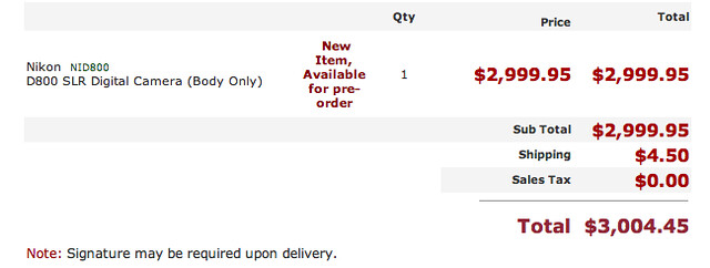 Pre-Ordered The Nikon D800!!!! :) by Ian Fidino!