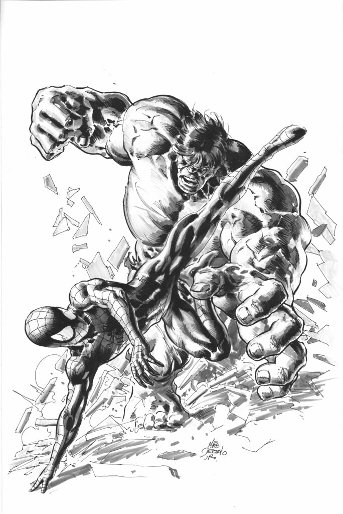Hulk versus Spider-Man by Mike Deodato