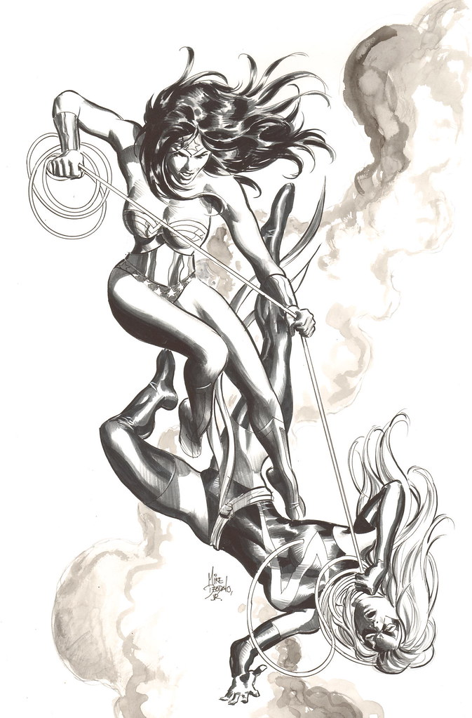 Wonder Woman versus Ms Marvel by Mike Deodato