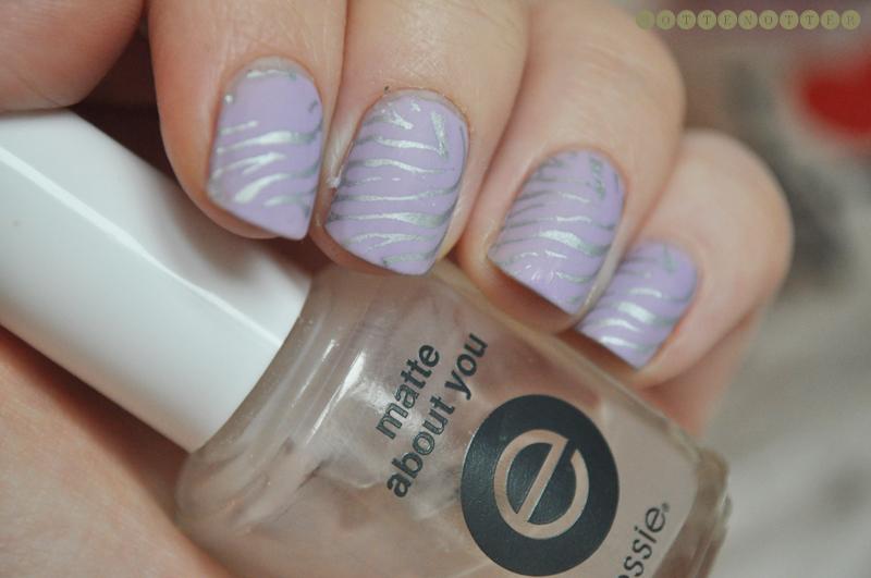 essie nice is nice nail polish notd zebra konad nail art matte