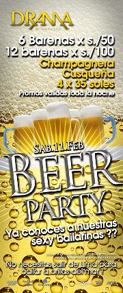 Sab 11 - Beer Party a Orillas del Mar
