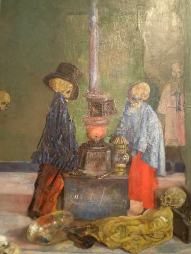 James Ensor 'Skeletons Warming Themselves'