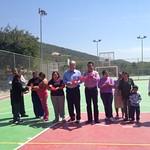 Inauguran obras en Allende y Santiago