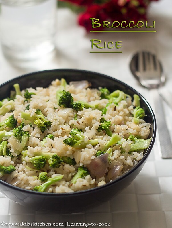 Broccoli rice Indian style