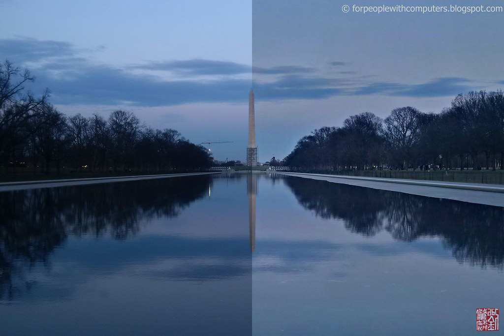 Washington Monument HDR Comparison