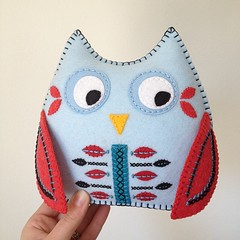 "New owl complete! This is ""Strawberry on Ice"" - listed in my shop tonight :)"