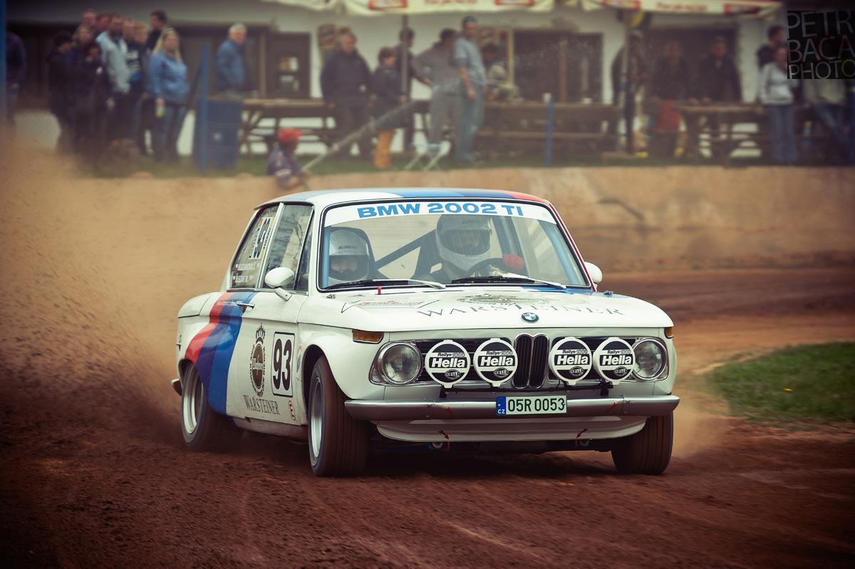 Rallye Praha Revival 2014, RPR, Eda Patera, Chabařovice, plochá dráha, BMW 2002, Warsteiner,