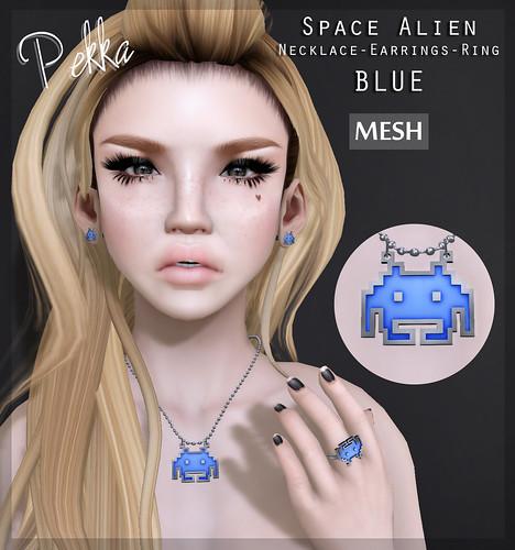 space alien blue