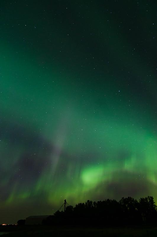 Aurora With Colour Streaks