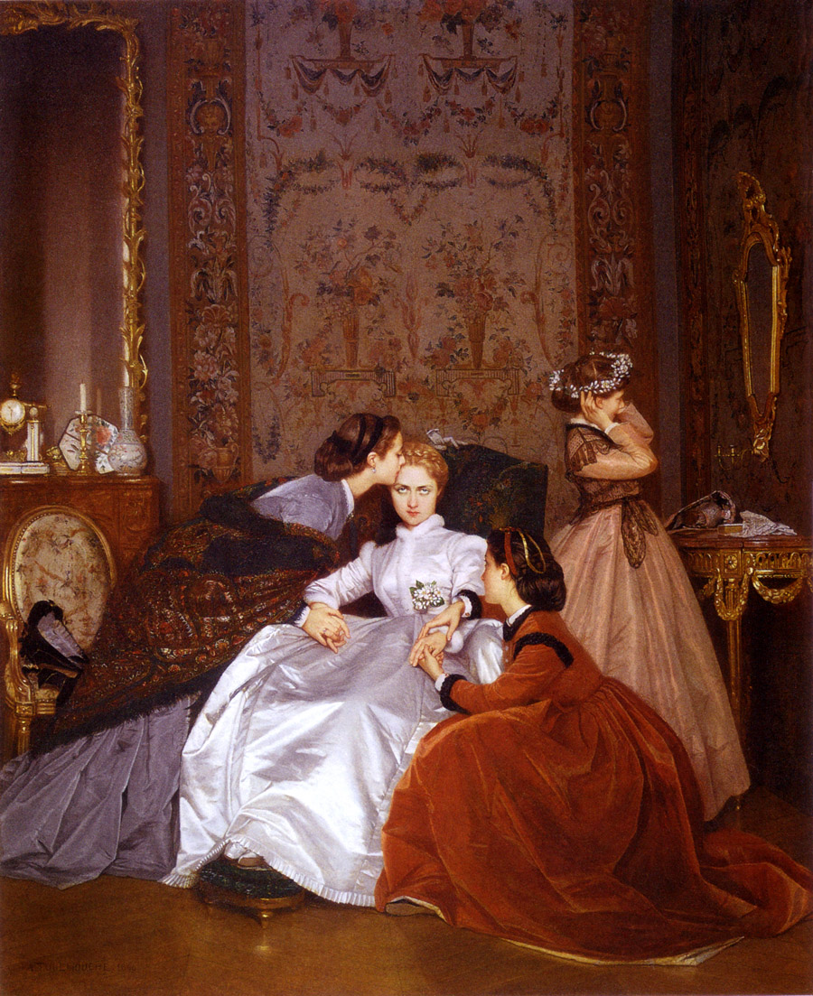 The Reluctant Bride by Auguste Toulmouche, 1866
