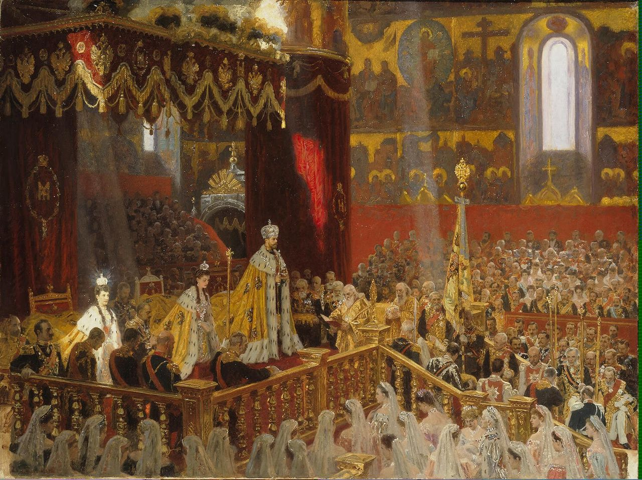 Coronation of Nicholas II and Alexandra Fyodorovna by Laurits Tuxen, 1898