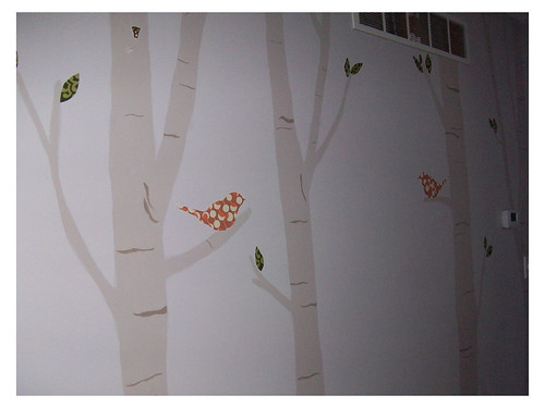 birch trees wall