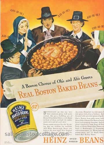 RETRO A RAMA Vintage Thanksgiving Ad Heinz Baked Beans 1937
