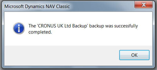 How to take FBK backup - Finished