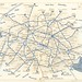 1956 Paris Metro map - RATP Plan Chemin de Fer Metropolitain de Paris