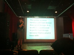 <p>Callie giving a talk on visual literacy at Betascape 2011</p>