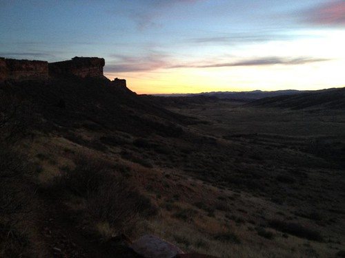 Sunset over Blue Sky Trail at Rim Rock