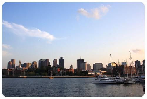 boston skyline & yachts